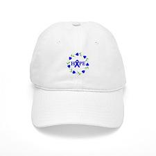 Rectal Cancer Hope Hearts Baseball Cap