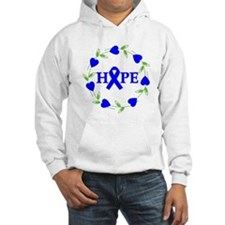 Rectal Cancer Hope Hearts Hoodie