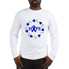 Rectal Cancer Hope Hearts Long Sleeve T-Shirt