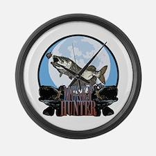 Musky hunter 7 Large Wall Clock