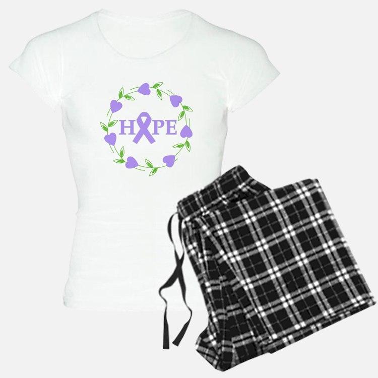 General Cancer Hope Hearts Pajamas