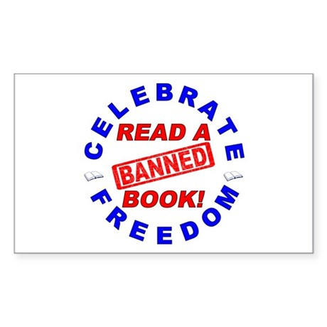 Read a Banned Book! Sticker (Rectangle)