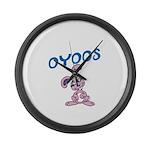 OYOOS Kids Bunny design Large Wall Clock