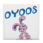 OYOOS Kids Bunny design Tile Coaster