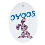 OYOOS Kids Bunny design Ornament (Oval)