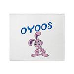 OYOOS Kids Bunny design Throw Blanket