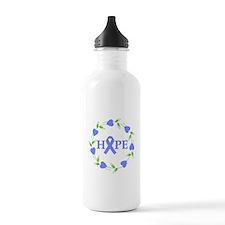 Esophagel Cancer Hope Hearts Water Bottle