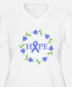 Esophagel Cancer Hope Hearts T-Shirt