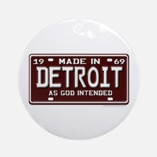 made in Detroit 1969 Ornament (Round)