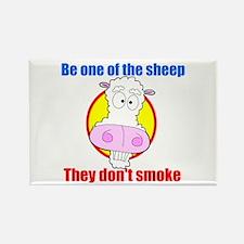 Sheep don't smoke Rectangle Magnet