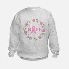 Breast Cancer Hope Hearts Sweatshirt