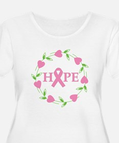 Breast Cancer Hope Hearts T-Shirt