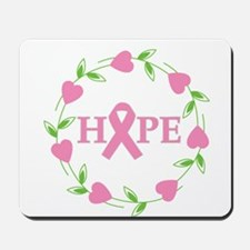 Breast Cancer Hope Hearts Mousepad