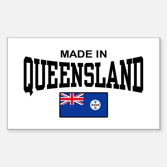 Made In Queensland Sticker (Rectangle)