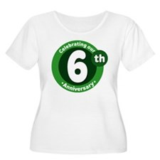6th Anniversary Green Gift T-Shirt