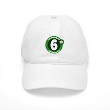 6th Anniversary Green Gift Baseball Cap
