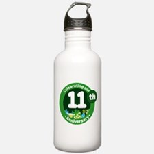 11th Anniversary Green Gift Water Bottle