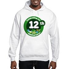 12th Anniversary Green Gift Hoodie