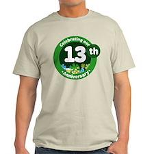 13th Anniversary Green Gift T-Shirt