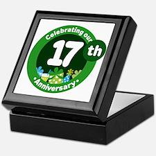 17th Anniversary Celebration Gift Keepsake Box
