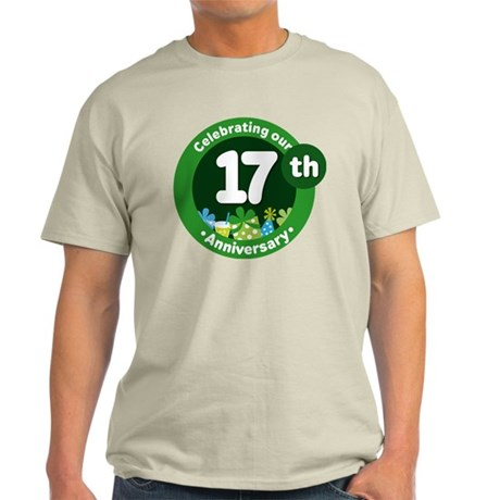 17th Anniversary Celebration Gift Light T-Shirt