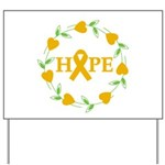 Appendix Cancer Hope Hearts Yard Sign