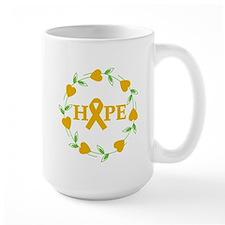 Appendix Cancer Hope Hearts Mug