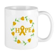 Appendix Cancer Hope Hearts Mug