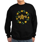 Appendix Cancer Hope Hearts Sweatshirt (dark)