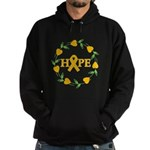 Appendix Cancer Hope Hearts Hoodie (dark)
