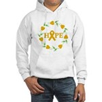 Appendix Cancer Hope Hearts Hooded Sweatshirt