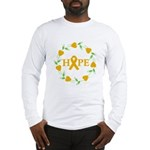 Appendix Cancer Hope Hearts Long Sleeve T-Shirt