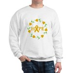 Appendix Cancer Hope Hearts Sweatshirt