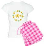 Appendix Cancer Hope Hearts Women's Light Pajamas