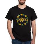 Appendix Cancer Hope Hearts Dark T-Shirt