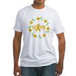 Appendix Cancer Hope Hearts Fitted T-Shirt