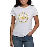 Appendix Cancer Hope Hearts Women's T-Shirt