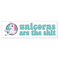 Unicorns are the shit Bumper Sticker
