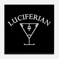 Luciferian White - Tile Coaster