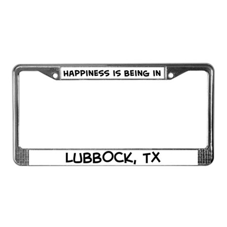 Happiness is Lubbock License Plate Frame