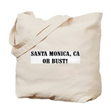 Santa Monica or Bust! Tote Bag