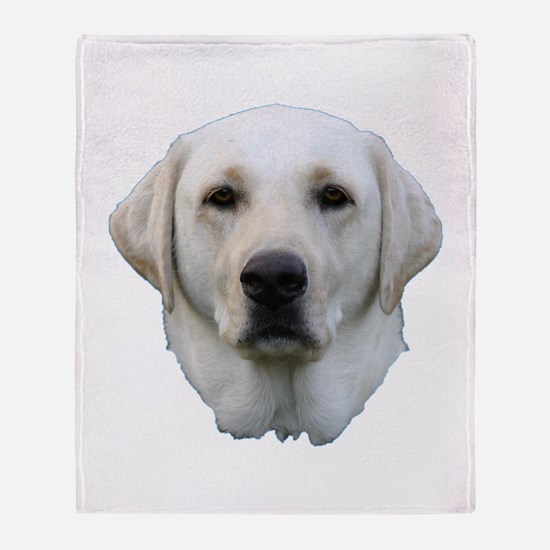 White lab 3 Throw Blanket