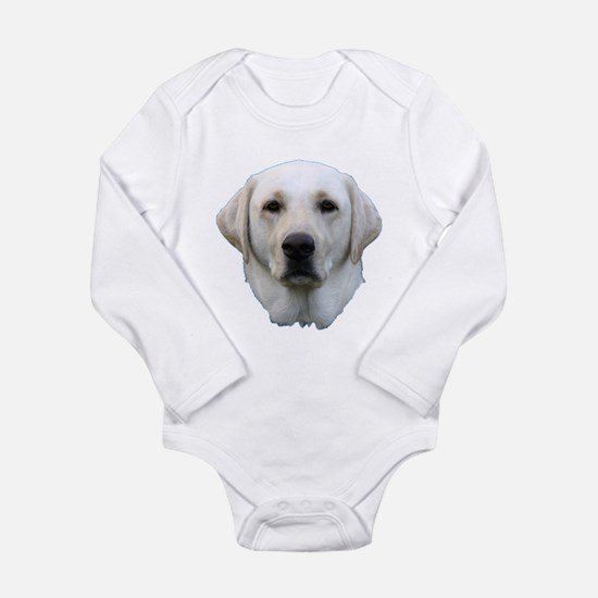 White lab 3 Long Sleeve Infant Bodysuit