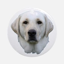 White lab 3 Ornament (Round)