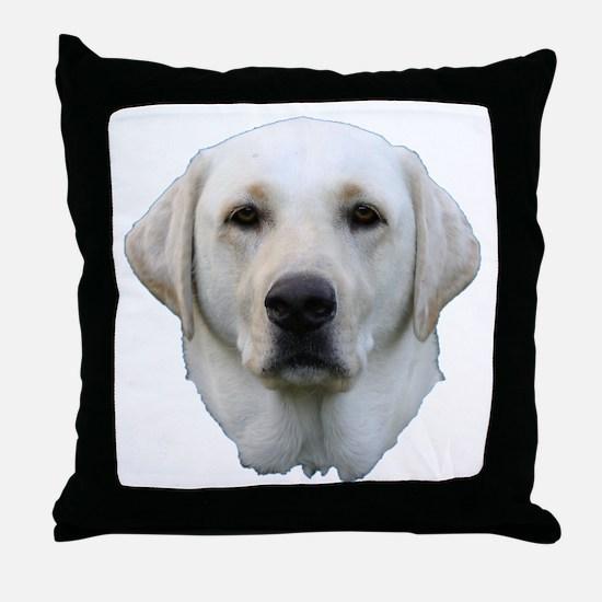 White lab 3 Throw Pillow