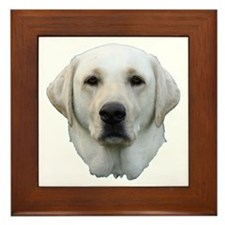 White lab 3 Framed Tile