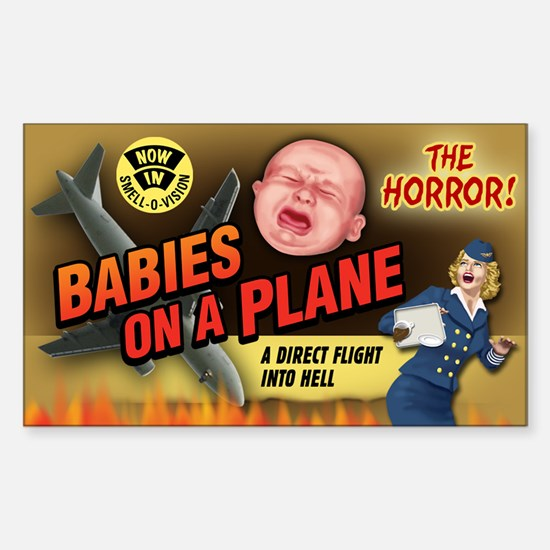 Babies on a Plane Rectangle Decal