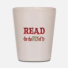 Reading Fun Shot Glass