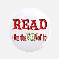 "Reading Fun 3.5"" Button (100 pack)"