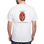 StubbyDog Logo & Sgt. Stubby White T-Shirt